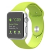 Apple Watch 42mm Silver Aluminum with Green Sport Band (MJ3P2)