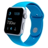Apple Watch 42mm Silver Aluminum Case with Blue Sport Band (MLC52)