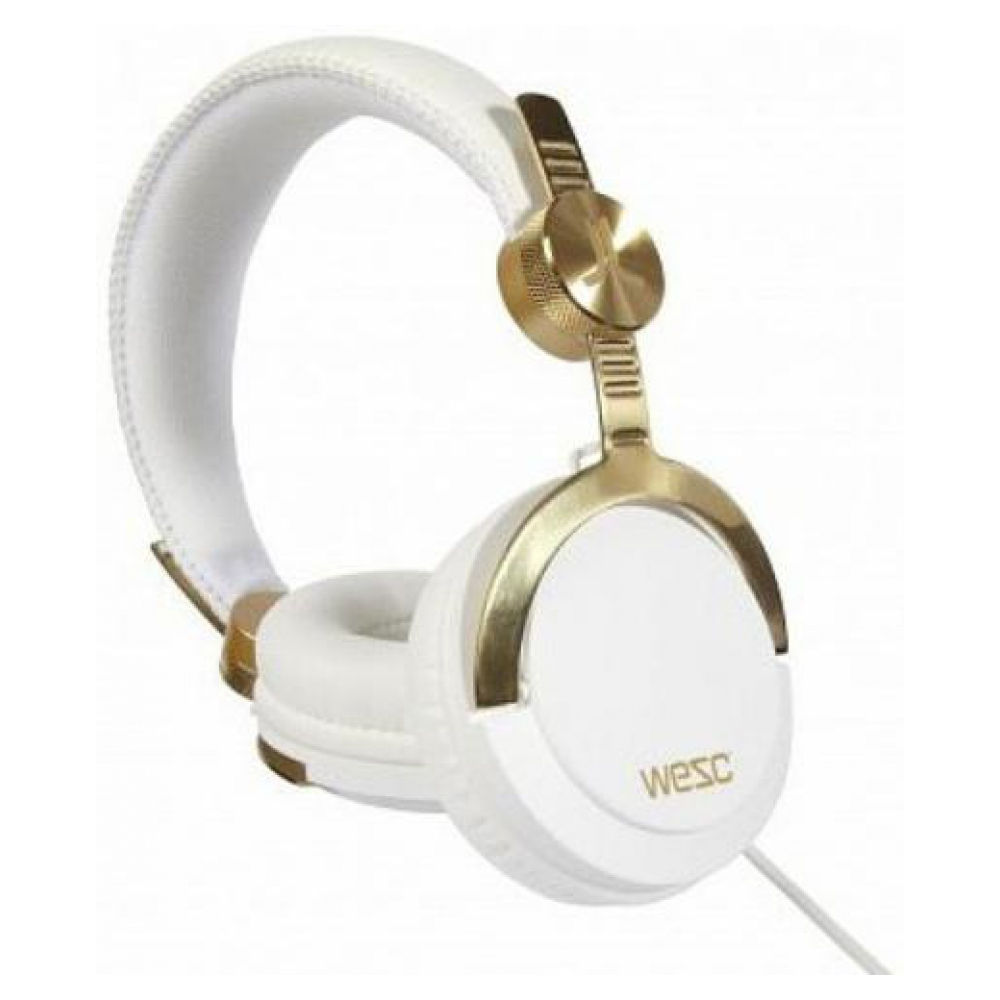 Наушники WESC Bassoon Golden White DJ Pro