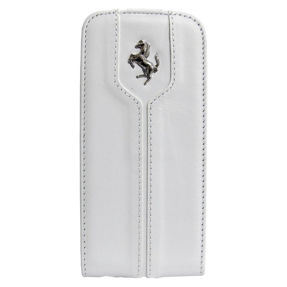 Чехол Ferrari Montecarlo Collection Leather Flip Case для iPhone 5S/5 - White (FEMTFLP5WH)
