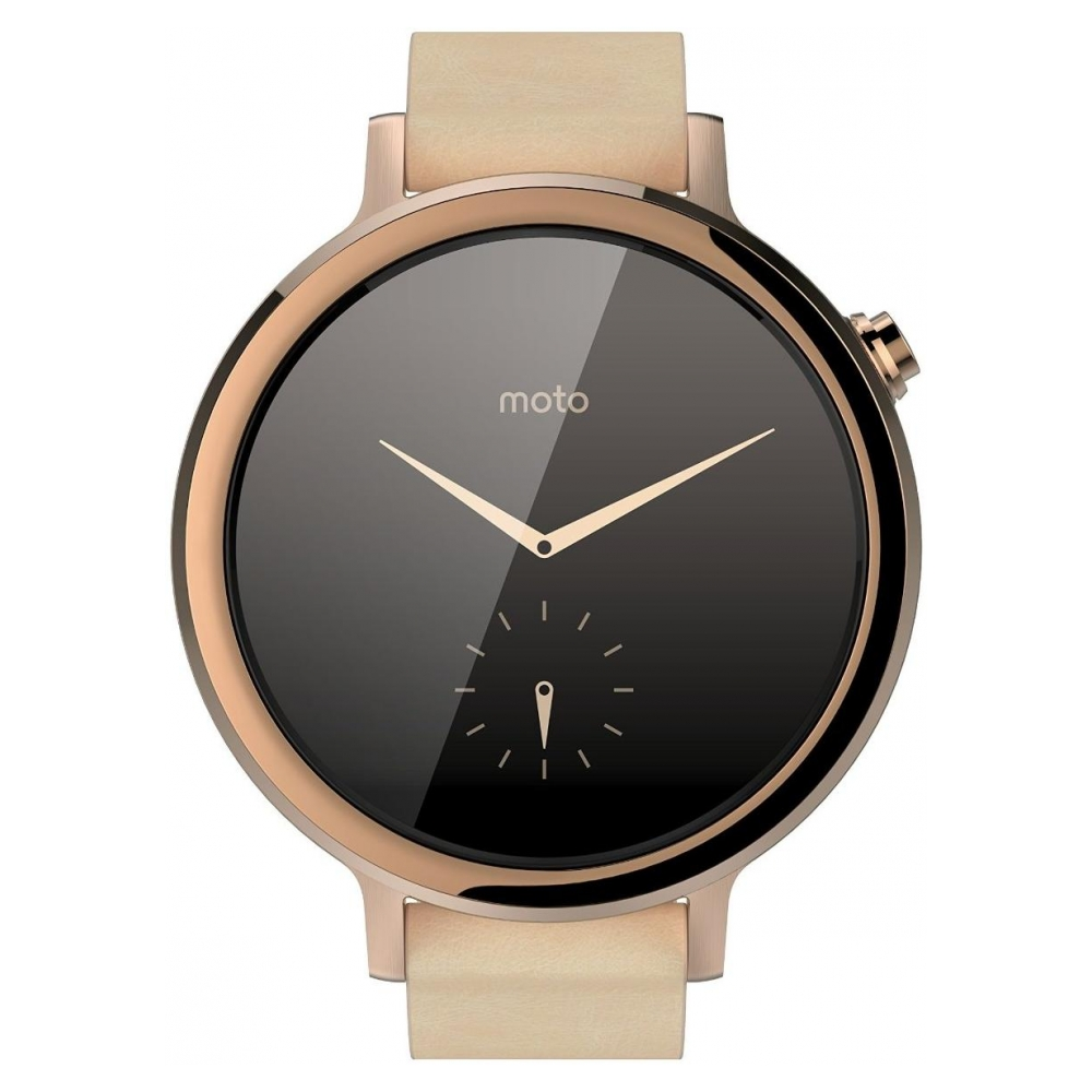 Умные часы Motorola Moto 360 2nd Generation Smartwatch 42mm Stainless Steel  with Rose Gold Leather Strap d649201e1c343