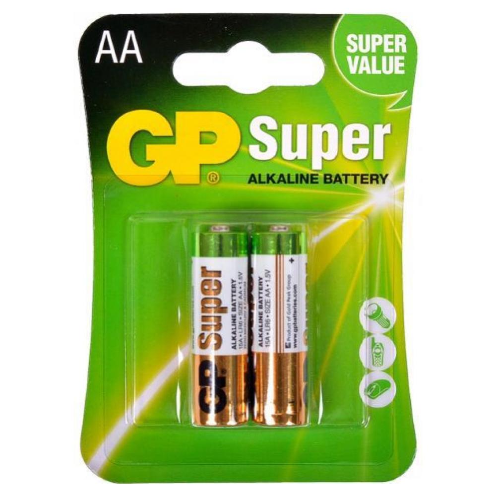 Батарейка AA (LR-6) GP Super (15A-U2) (2шт)