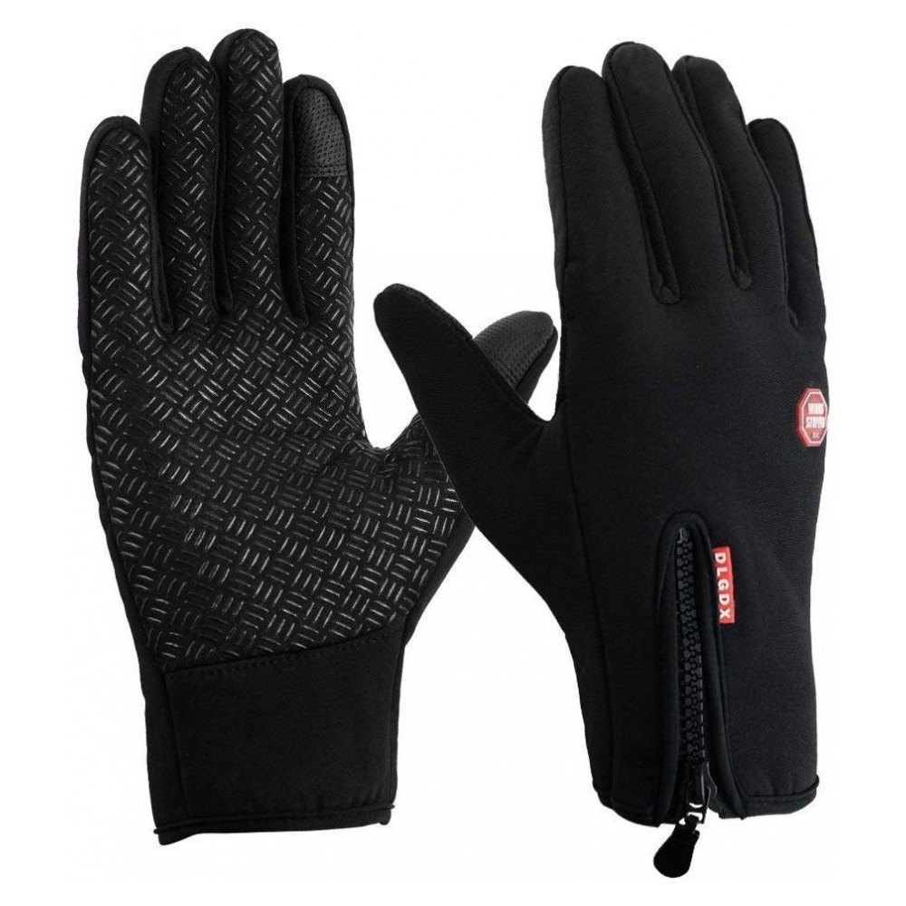 Перчатки Touch Gloves Black with zip (XL)