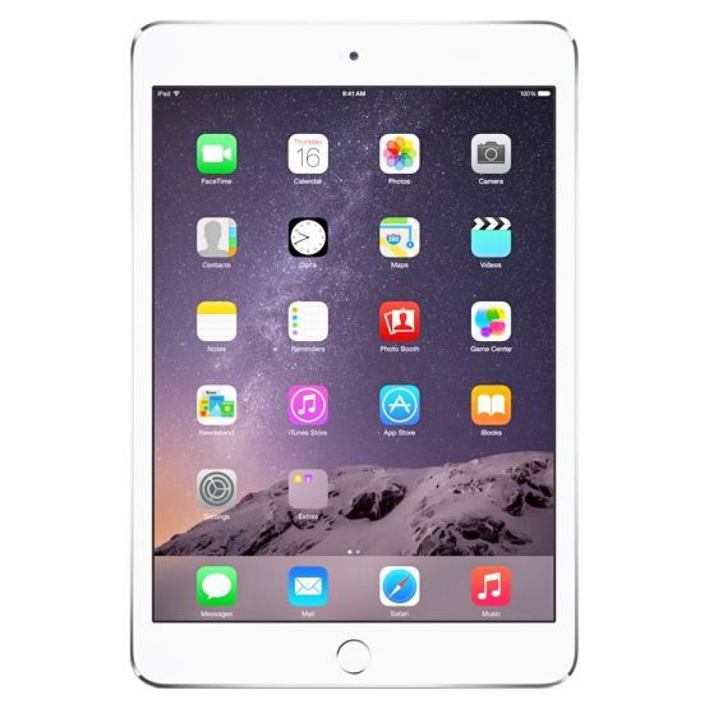 Планшет Apple iPad mini 3 Wi-Fi 4G 64GB Silver (MGJ12TU/A) UA UCRF