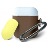 Чехол Armorstandart Duo Hang Case для Apple AirPods Dark Brown/Sea Blue/Yellow (ARM53639)