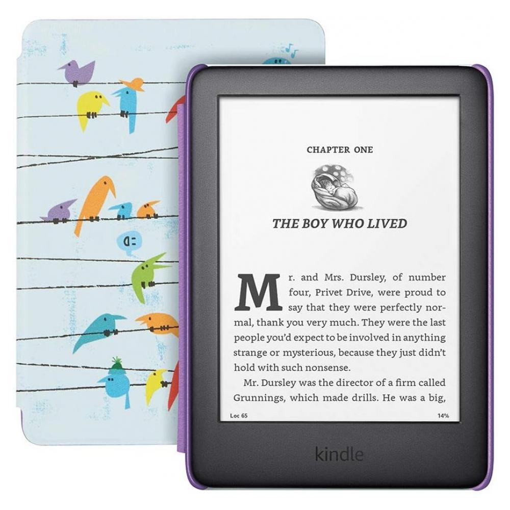 Электронная книга Amazon Kindle 10th Gen. 2019 8Gb Kids Edition Rainbow Birds Cover