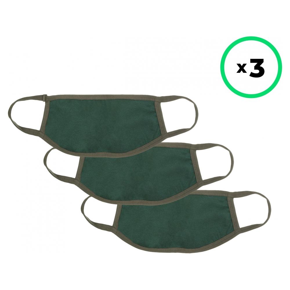 Набор защитных масок ArmorStandart многоразовых Pine Green 3 шт.