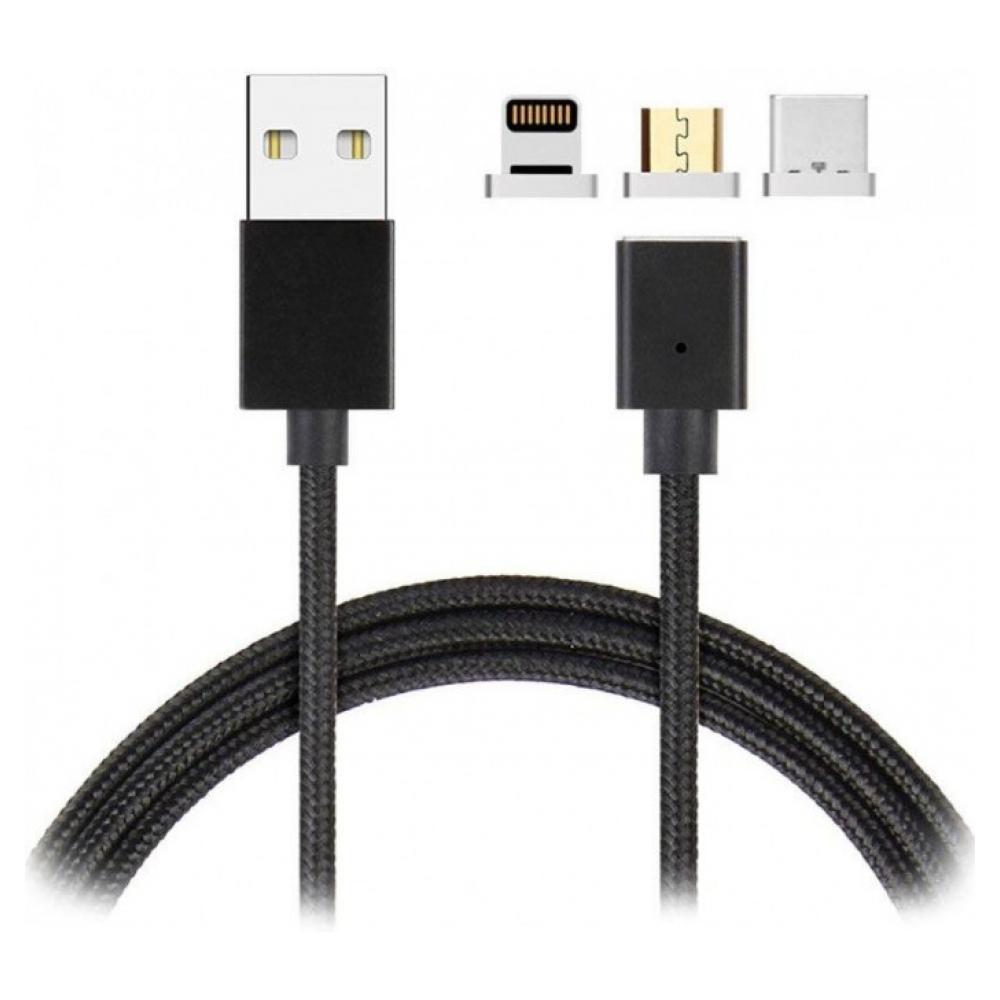 Магнитный кабель ARS 3в1 Lighting + Micro + Type C Black (ARM50683)