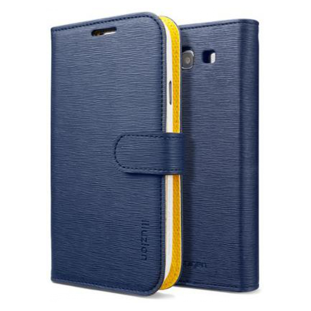 Чехол SGP Leather Case illuzion Series Lemon Indigo для Samsung Galaxy S III i9300 (SGP09298)