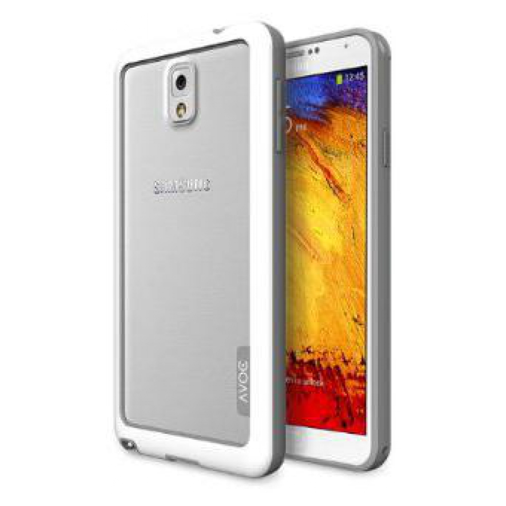 Чехол Avoc Bumper Solid для Galaxy Note 3 - White/Grey