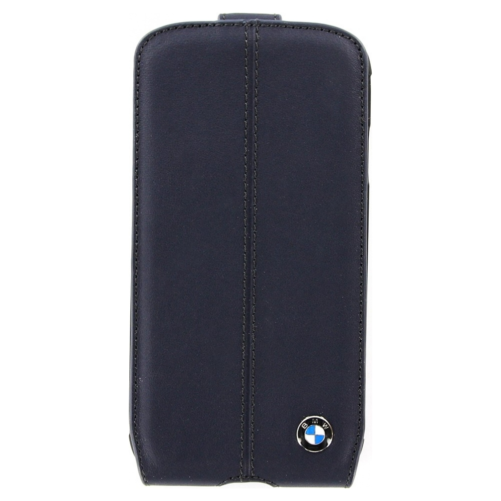 Чехол BMW Leather Flip Case для Galaxy S4 - Blue (BMFLS4LN)