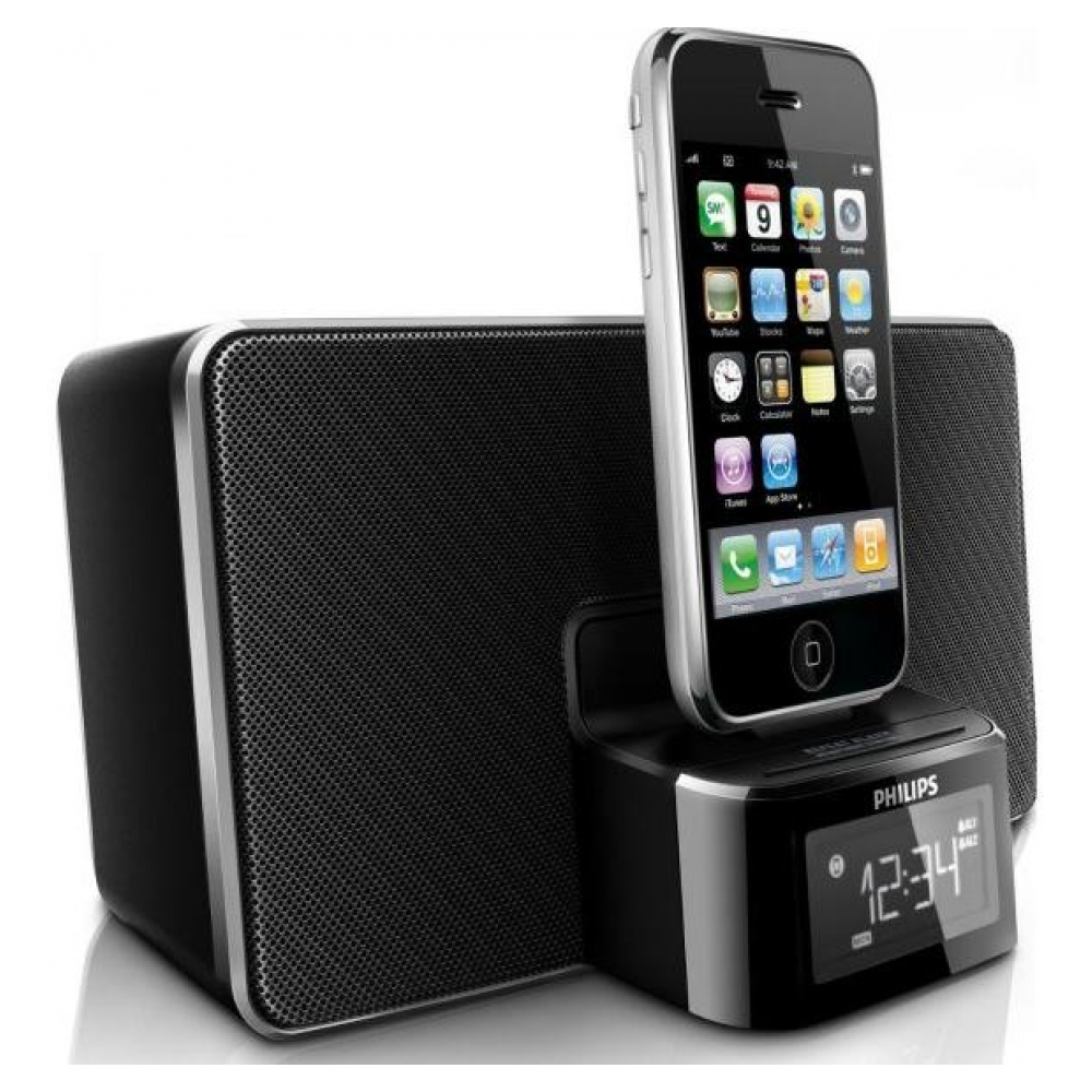 Акустическая система Philips DC220/37 Docking Clock Radio для iPhone/iPod
