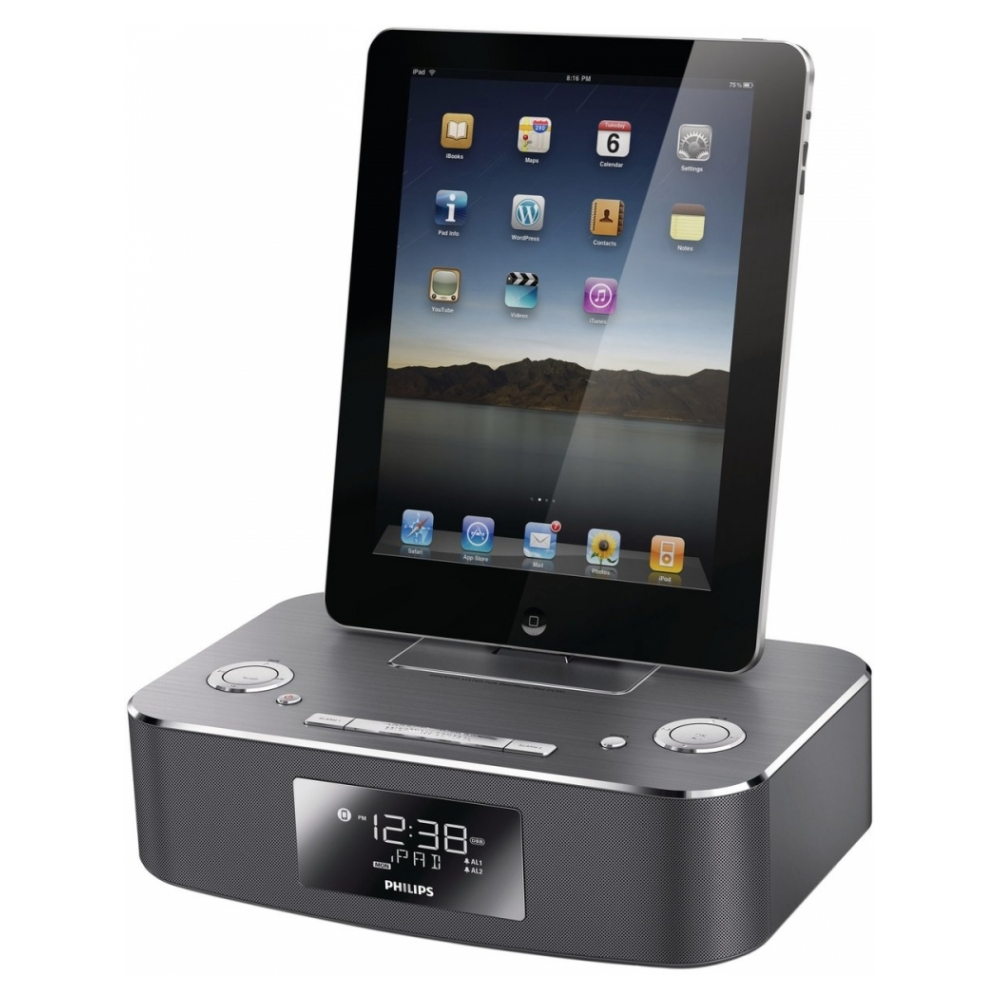 Акустическая система Philips DC291/37 Docking System для iPod/iPhone/iPad (Aluminium)