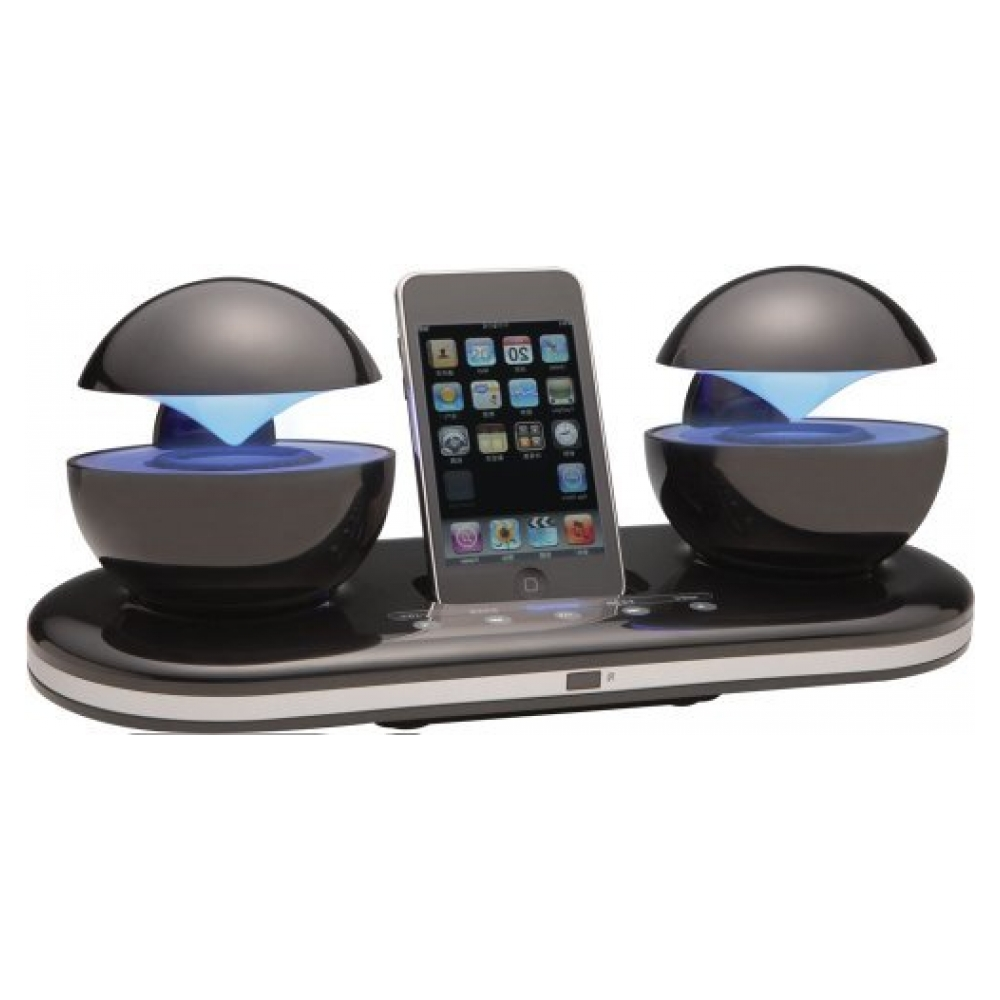 Акустическая система Speakal iCrystal Stereo Docking Station with Two Speakers для iPod (Black)