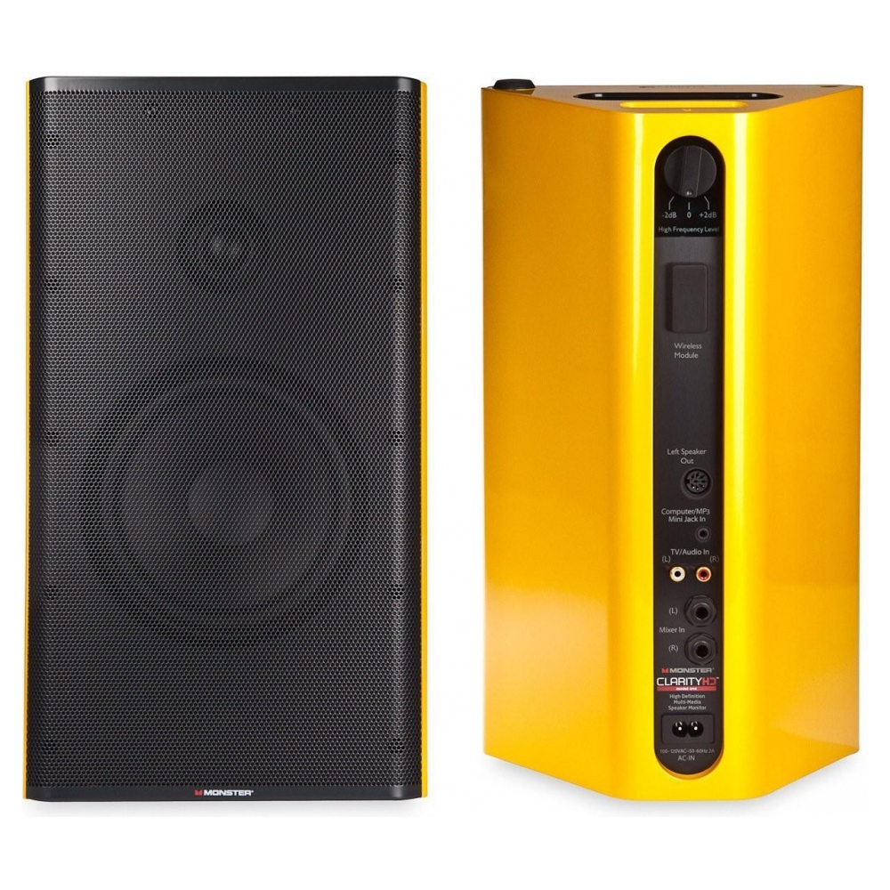Акустическая система Monster Clarity HD Monitor Speakers (Yellow)