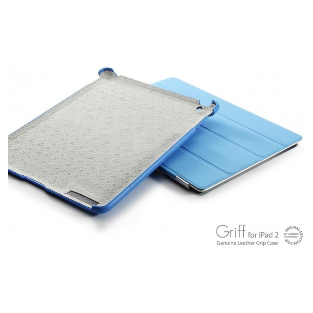 Чехол SGP Leather Case Griff Series Tender Blue для iPad 2 (SGP07696)